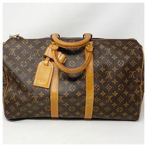 Authentic Louis Vuitton Monogram Keepall 45 Travel